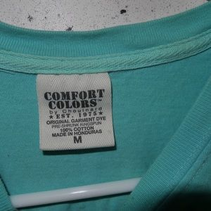 Comfort Colors Tops - Chuy's comfort colors | turquoise t shirt